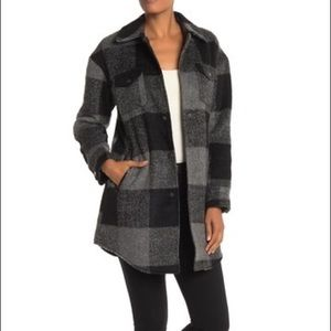 Lucky Brand Missy Plaid Long Jacket